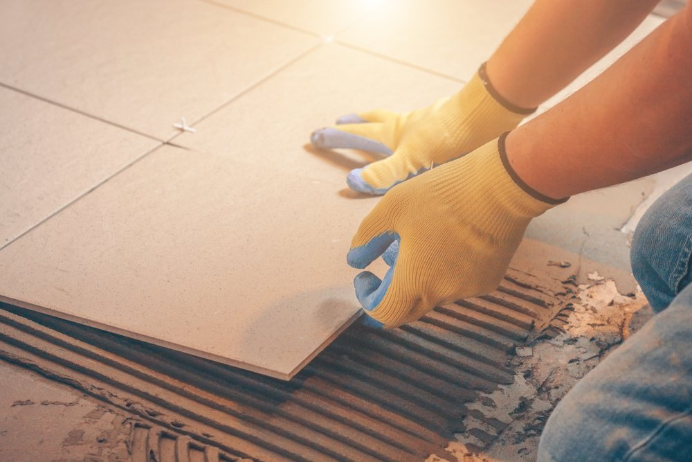 Wall tiles being used on the floor