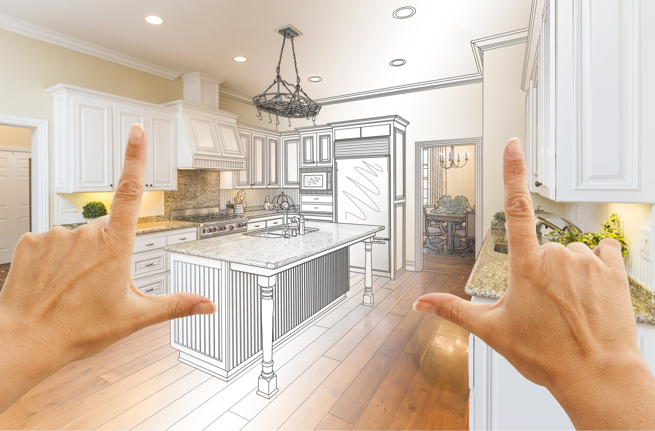 A kitchen that looks beautofully decorated